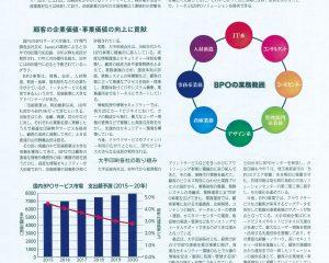 フジサンケイビジネスアイに掲載「高い信頼・技術・品質を生かしBPO事業広げる」