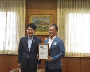 鹿児島県知事より、<かごしま「働き方改革」推進企業>の認定証を授与されました。