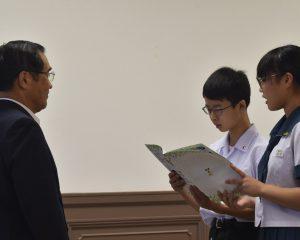 鹿児島市主催の<子どもミーティング>で、鹿児島市長との意見交換会を実施しました。